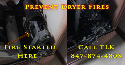 Inside A Clothes Dryer Fire