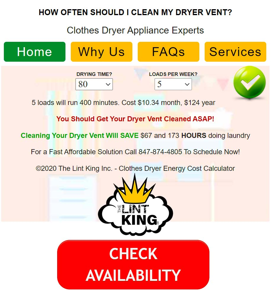 How Often Should A Dryer Vent Be Cleaned The Lint King
